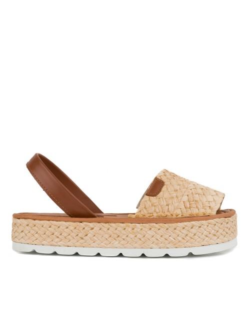 María Barceló M800202 Zapato Oxford con Lazo y Flecos de Mujer en Charol y Glitter con Cierre Ajustable de Cordones en Marino