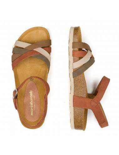 María Barceló M800401 Zapato Cerrado al Tobillo de Mujer en Piel con Cierre Ajustable con Doble Cremallera Negro